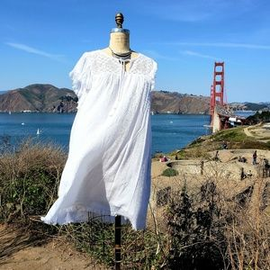 Aerie Oversized White Cotton Sundress, Sz L
